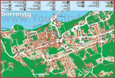 Туристическая карта Сорренто с отелями