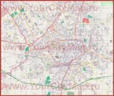 Подробная карта города Тревизо