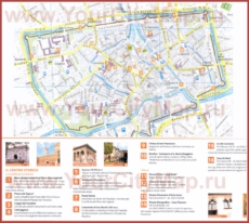 Туристическая карта Тревизо с достопримечательностями