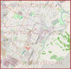 Подробная карта города Турин
