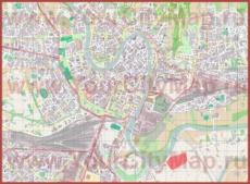 Подробная карта города Верона