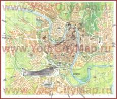 Подробная туристическая карта Вероны с достопримечательностями