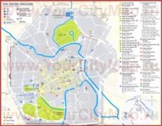 Туристическая карта Виченцы с достопримечательностями