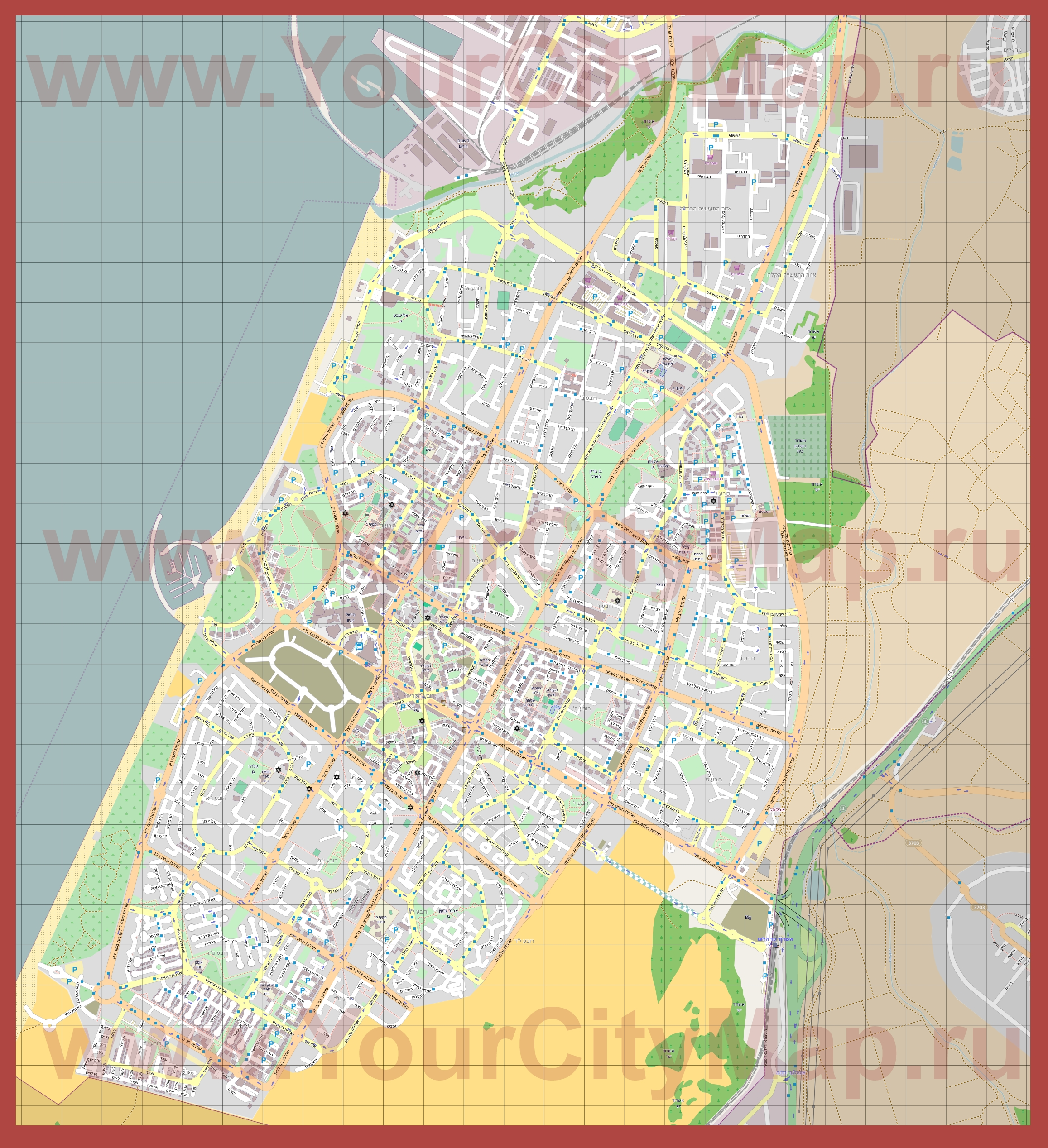 Подробная карта города ашдод