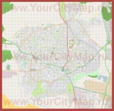 Подробная карта города Беэр-Шева