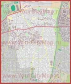 Подробная карта города Бней-Брак