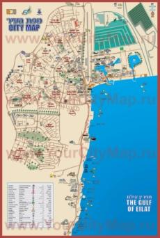 Подробная карта города Эйлат на русском языке
