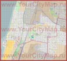 Подробная карта города Герцлия