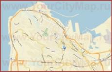 Карта Хайфы на русском языке с улицами