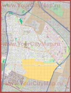 Подробная карта города Холон