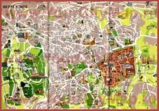 Карта Иерусалима на русском языке с достопримечательностями