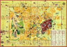Подробная туристическая карта города Иерусалим