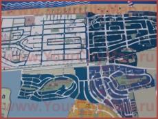 Подробная туристическая карта города Нагарии с отелями и достопримечательностями