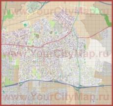 Подробная карта города Петах-Тиква