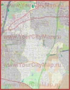 Подробная карта города Рамат-Ган