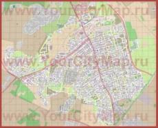 Подробная карта города Реховот
