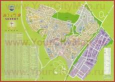 Подробная туристическая карта города Сдерот