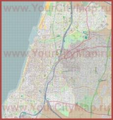 Подробная карта города Тель-Авив