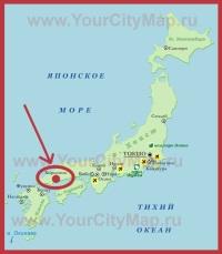Хиросима на карте Японии