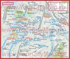 Туристическая карта Хиросимы с отелями