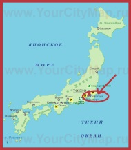 Йокогама на карте мира