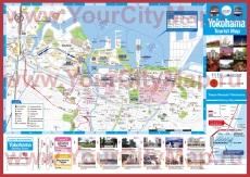 Подробная туристическая карта Йокогамы с отелями