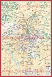 Подробная карта города Киото