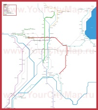 Схема - карта метро Киото
