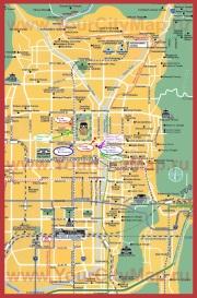 Туристическая карта Киото с достопримечательностями