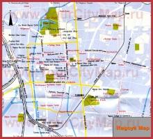 Карта города Нагоя