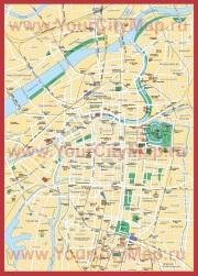 Карта города Осака