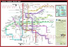 Схема - карта метро Осаки