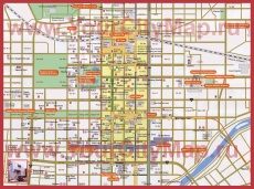 Подробная карта города Саппоро с отелями