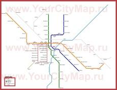 Схема - карта метро Саппоро