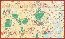 Подробная карта города Токио