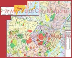 Подробная карта Токио с районами