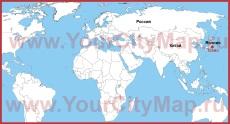 Токио на карте мира