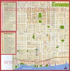 Карта Торонто с отелями