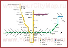 Схема - Карта метро Торонто