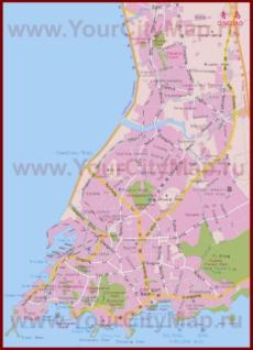 Карта города Циндао