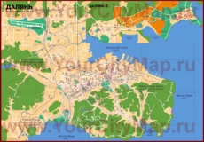 Подробная карта города Далянь