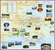 Туристическая карта Даляня с отелями и достопримечательностями