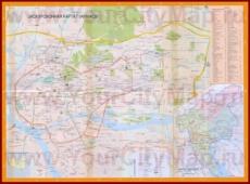 Подробная карта города Гуанчжоу с магазинами, рынками и отелями