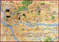 Туристическая карта Гуанчжоу с отелями и достопримечательностями
