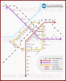 Карта метро Харбина