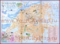 Подробная туристическая карта Харбина с отелями, достопримечательностями и магазинами
