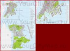 Карта отелей и казино Макао