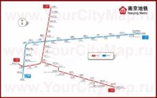 Карта метро Нанкина