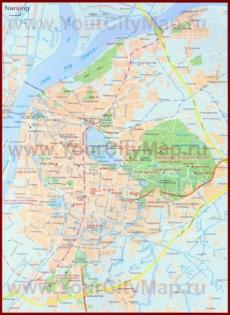 Подробная карта города Нанкин с достопримечательностями