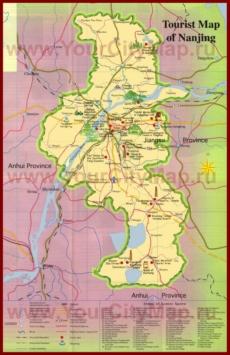 Туристическая карта окрестностей Нанкина